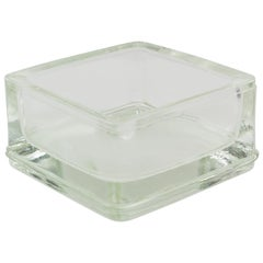Le Corbusier for Lumax Molded Glass Desk Accessory Ashtray Catchall