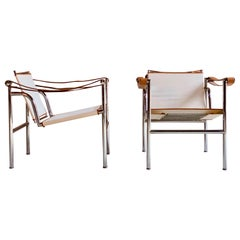 Le Corbusier LC1 Armchairs by Pierre Jeanneret, and Charlotte Perriand Cassina