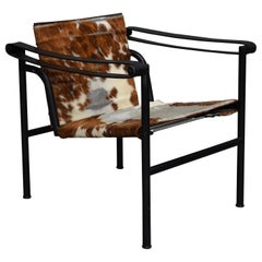 Le Corbusier LC1 Chair by Cassina in Ponyskin, 1970s