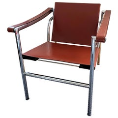 Le Corbusier, LC1 Chair, Leather and Polished Chrome Steel