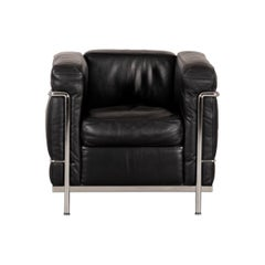Le Corbusier LC2 Armchair in Black Leather for Cassina, Italy