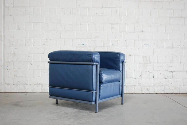 Le Corbusier LC2 Leather Armchair by Cassina 9