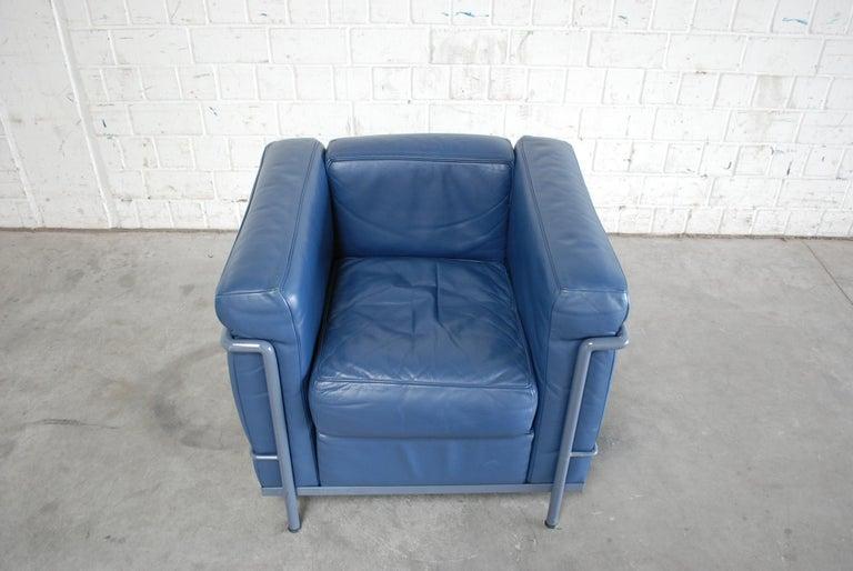 Bauhaus Le Corbusier LC2 Leather Armchair by Cassina