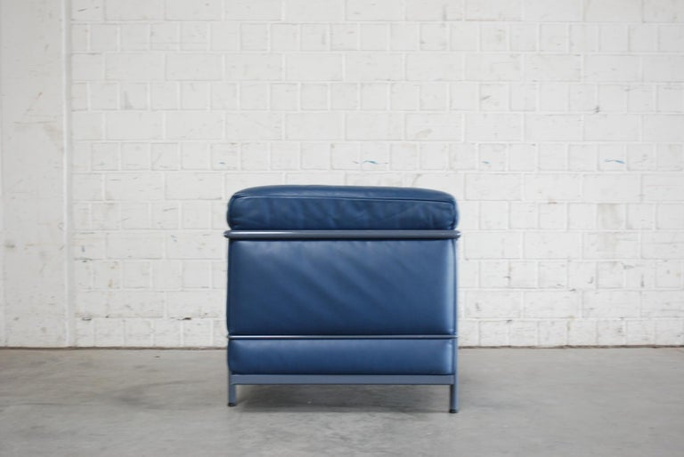 French Le Corbusier LC2 Leather Armchair by Cassina