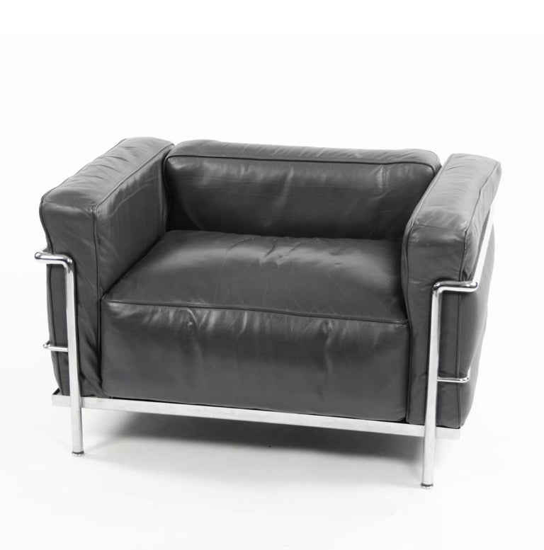 Le Corbusier LC3 Grand Modele Armchair with Down Cushions ...