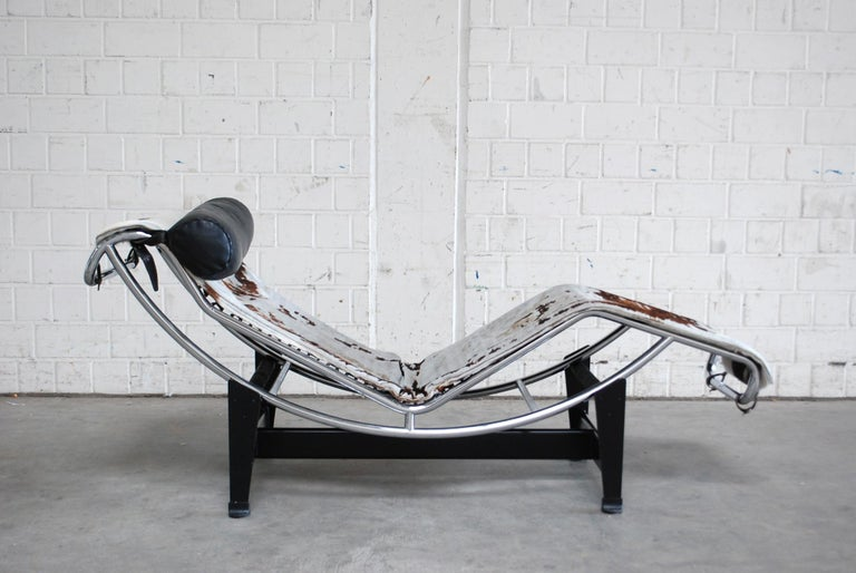 Le Corbusier LC4 Pony Leather Chaise Longue by Cassina, 1970s 2