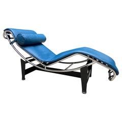 Le Corbusier Lounge Armchair LC4 Cassina Edition, Blue