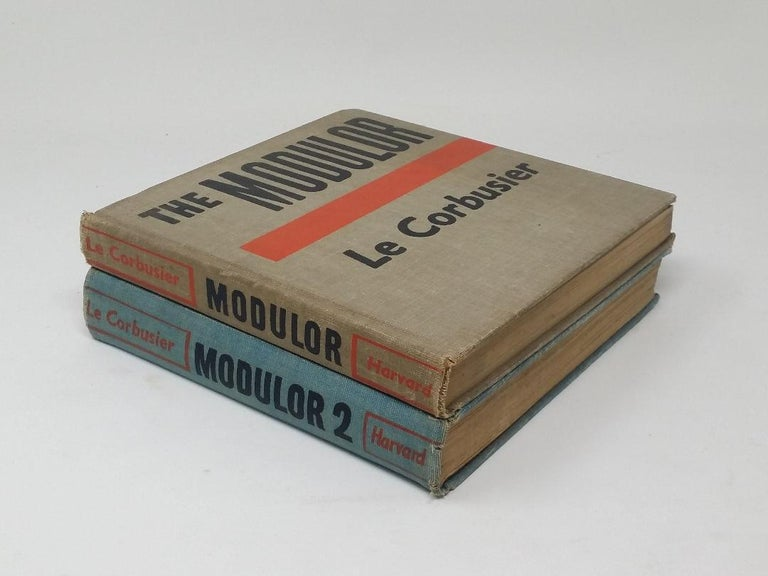 The two Modulor books describe Le Corbusier's philosophy of architectural proportion that is derived from the scale of the human body. The figure of Modulor man appeared in Le Corbusier's publications as well as murals in architectural projects