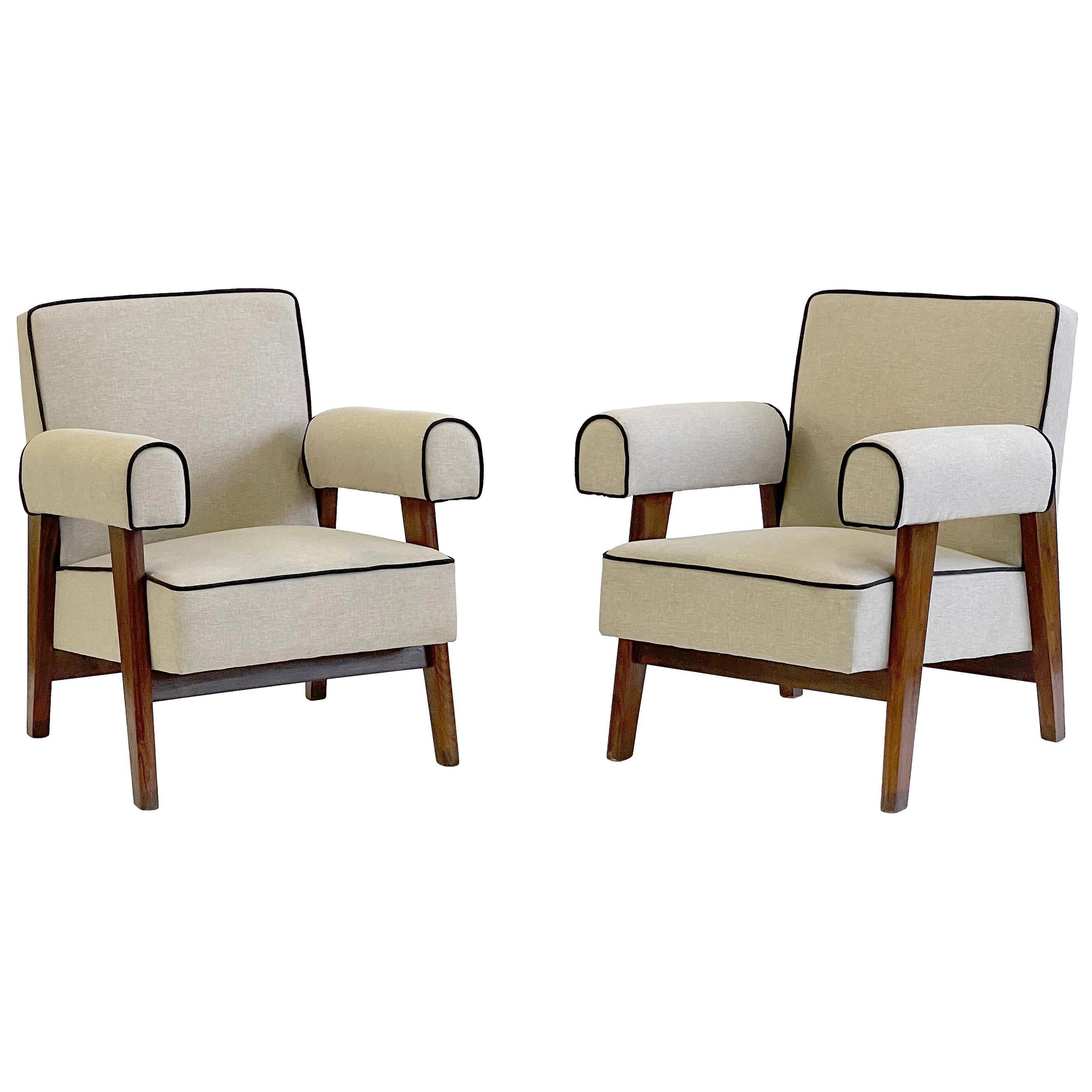 """Le Corbusier & Pierre Jeanneret """"A-Frame"""" LC/PJ-SI-42-A Lounge Chairs"""