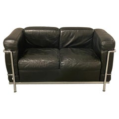 Le Corbusier Pierre Jeanneret Charlotte Perriand Cassina Lc2 Leather Sofa, 1965
