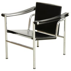 Le Corbusier, Pierre Jeanneret Charlotte Perriand LC1 Black Leather Lounge Chair