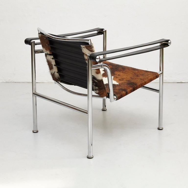 Late 20th Century Le Corbusier, Pierre Jeanneret, Charlotte Perriand LC1 Pony Skin Lounge Chair For Sale