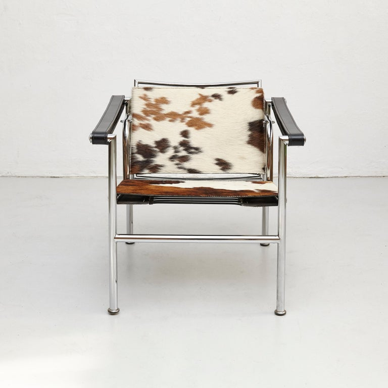 Le Corbusier, Pierre Jeanneret, Charlotte Perriand LC1 Pony Skin Lounge Chair For Sale 1