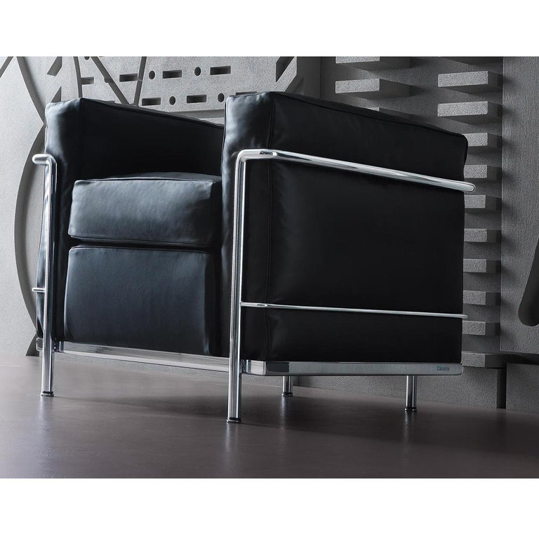 Armchair designed by Le Corbusier, Pierre Jeanneret, Charlotte Perriand in 1928.