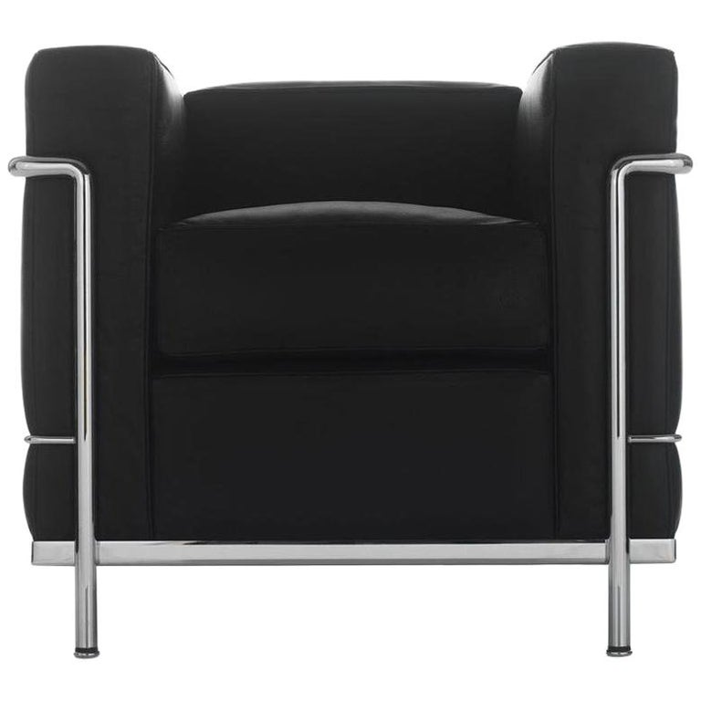 Le Corbusier, Pierre Jeanneret, Charlotte Perriand LC2 Poltrona Armchair For Sale