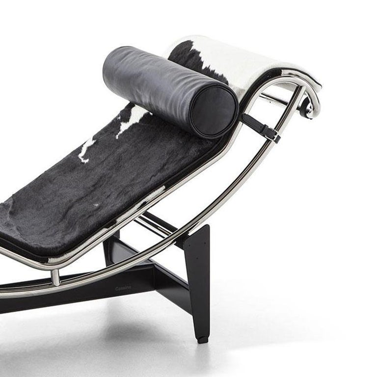Italian Le Corbusier, Pierre Jeanneret, Charlotte Perriand LC4 Chaise Lounge For Sale