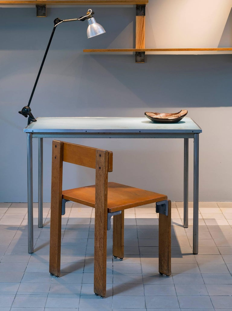 Le Corbusier Pierre Jeanneret Charlotte Perriand Table Thonet In Fair Condition For Sale In Paris, FR