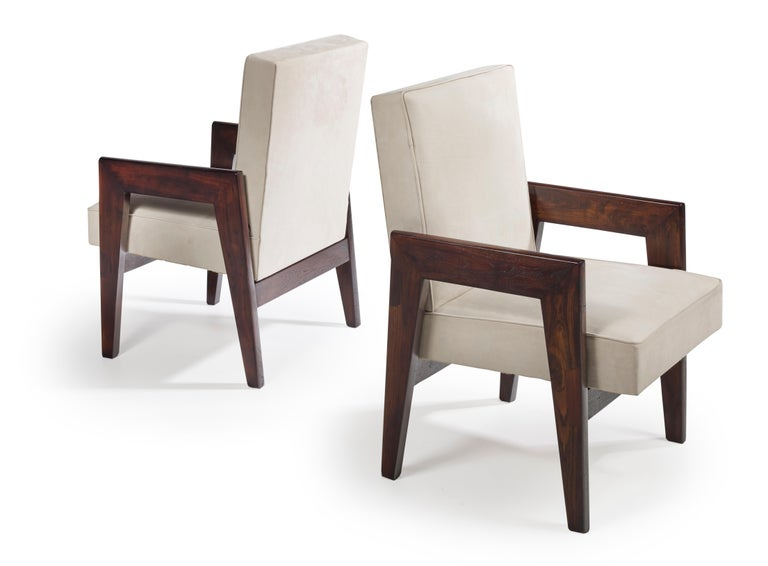 Indian Le Corbusier & Pierre Jeanneret, LC/PJ-SI-41-B, Advocate and Press Chair For Sale