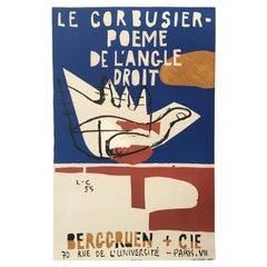 Le Corbusier, Poeme de L'Angle Droit 1955 Original Vintage Poster