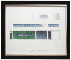 2009 After Le Corbusier 'Villa Savoye' White,Green,Blue Offset Lithograph