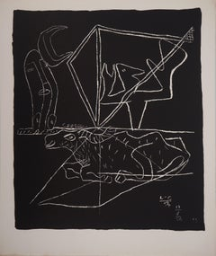 Bull and Surrealist Dream - Original lithograph (Atelier Michel Cassé), 1964