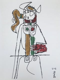 Composition with Red Hand for Chandigarh - Original Lithograph
