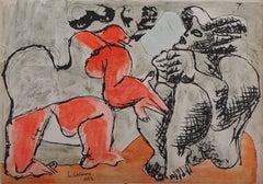 Couple : The Argument - Original Lithograph