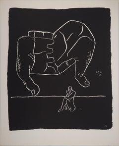 Hands and the Thinker - Original lithograph (Atelier Michel Cassé), 1964
