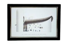 """Le Corbusier--Chapelle de Ronchamp-19.5"""" x 27""""-Framed Poster"""