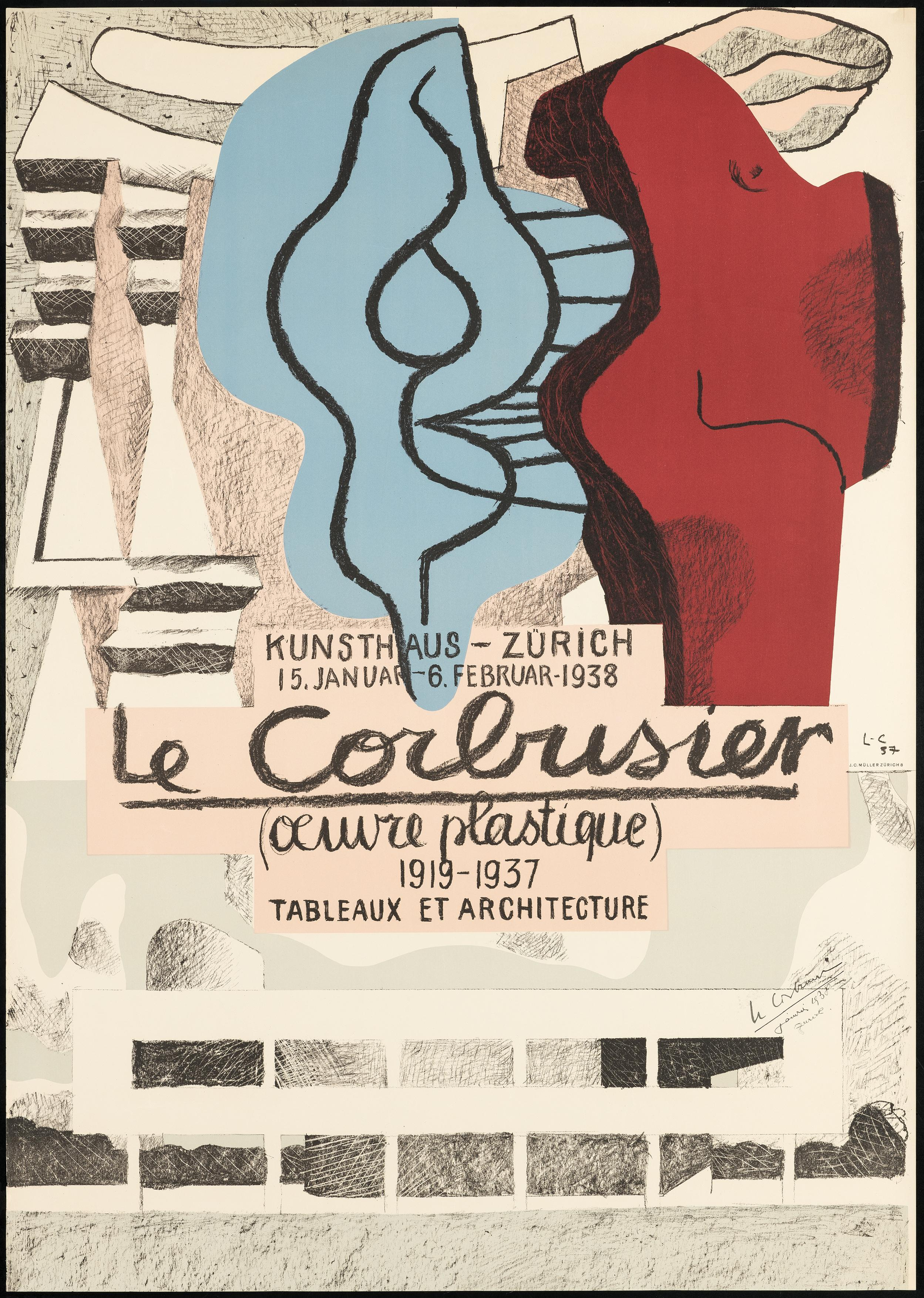 Œuvre Plastique,Kunsthaus Zürich 1938 – lithograph, hand-signed and denoted