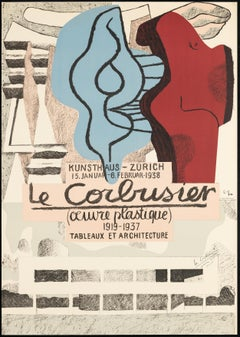 Œuvre Plastique, Kunsthaus Zürich 1938 – lithograph, hand-signed and denoted