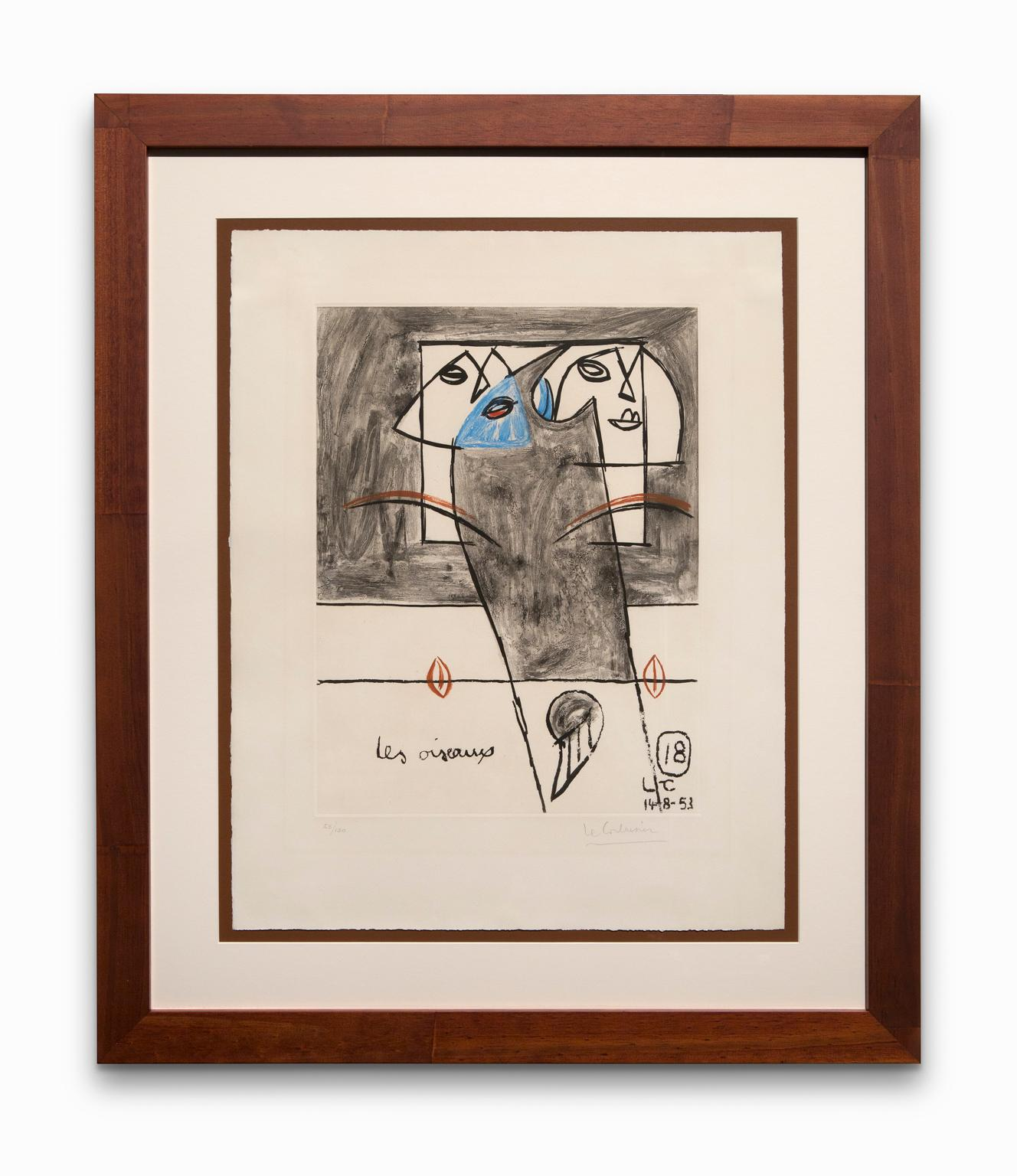 """""""Les Oiseaux"""" (The Birds),  From Unité, Etching/Aquatint, Numbered and Signed"""