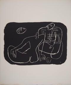 Lovers - Original lithograph (Atelier Michel Cassé), 1964