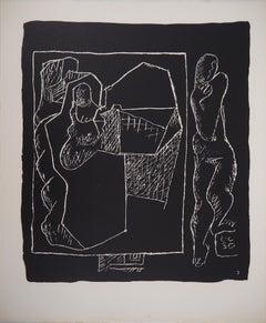 Man and Architecture - Original lithograph (Atelier Michel Cassé), 1964