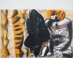Man and Shadow - Original Lithograph