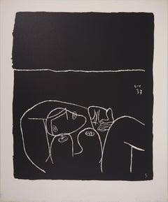 Nude - Original lithograph (Atelier Michel Cassé), 1964
