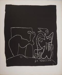 Surrealist Dream - Original lithograph (Atelier Michel Cassé), 1964