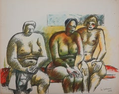 Three Nudes - Original Lithograph