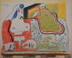 Two Spanish Women - Original Lithograph
