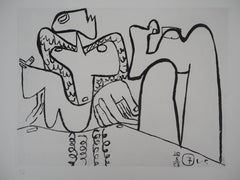 Unite : Cubist Nude - Original etching - Numbered / 10