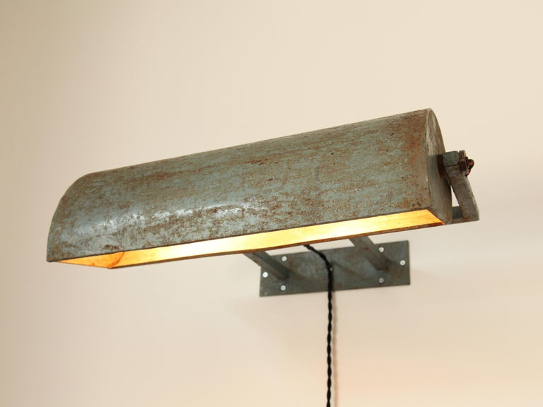 Mid-Century Modern Le Corbusier, Rare LCII Wall Lamps, circa 1954 For Sale