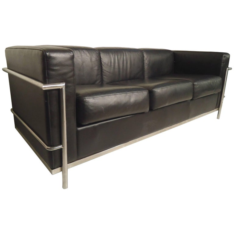 le corbusier style cassina sofa for sale at 1stdibs