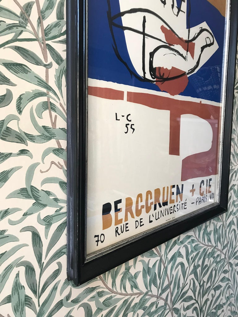 Le Corbusier Vintage Exhibition Poster In Good Condition For Sale In Copenhagen K, DK