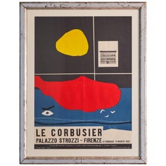 Le Corbusier Vintage Exhibition Poster with Antique Frame