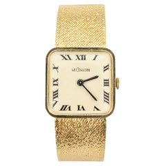 Le Coultre 17-Jewel Movement Yellow Gold Wristwatch