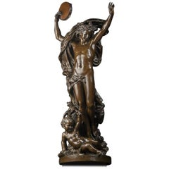 'Le Génie de la Danse, n°2', a Patinated Bronze Figure by Carpeaux, Dated 1872