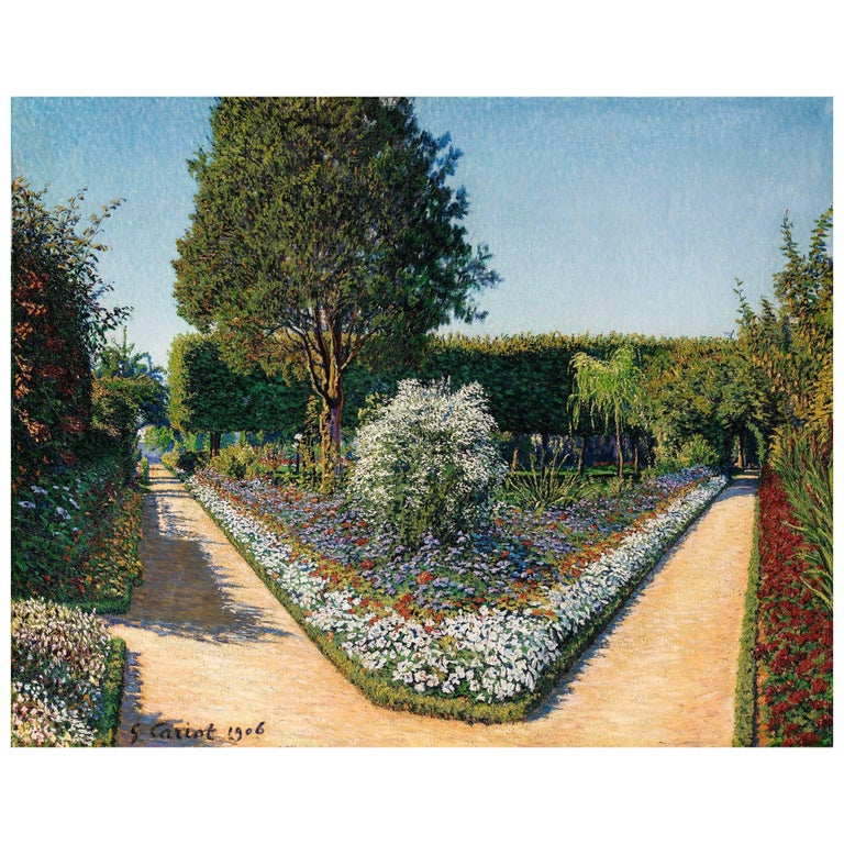 """Le Jardin De Perrigny, Yonne"" by Gustave Cariot, 1872-1950 For Sale"