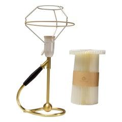 Le Klint 306 Wall or Table Lamp in Brass by Kaare Klint, Denmark, 1960s