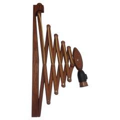 Le Klint Scissor Lamp, Original Large Wall Model of Patinated Oak