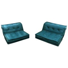 Le Mah Jong Modular Lounge Chair Roche Bobois Custom Jean Paul Gaultier Leather